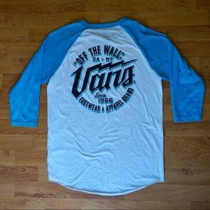 """Vans """"off the wall"""" raglan shirt / baseball tee"""